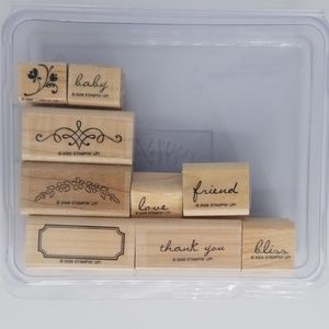 Stampin Up Noteworthy Stamps EUC